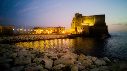 The fortress of Castel dell'Ovo in Naples Bay