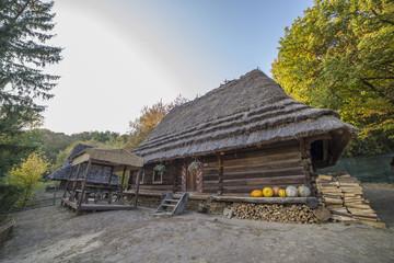 old ethnic Ukrainian village