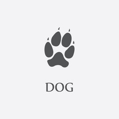 Dog print black simple icon for web design.