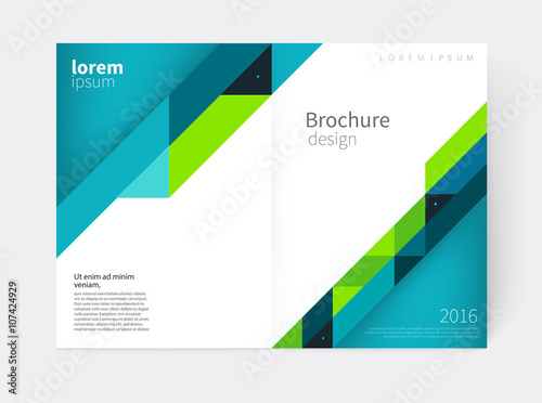 Awesome Brochure, Flyer, Annual Report Cover Template. A3 Size. Modern Ideas Annual Report Cover Template
