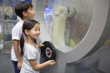 Children in science and technology museum