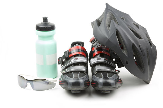 sports equipment cycling / set of racing accessories for cycling
