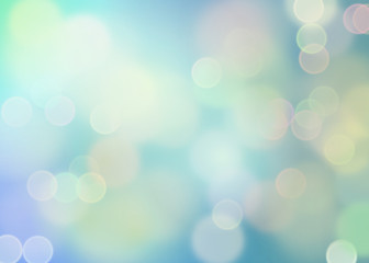 Dreamy bokeh in blauw
