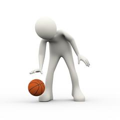 3d man playing basket ball