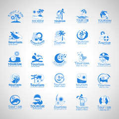 Summer Icons Set-Isolated On Gray Background.Vector Illustration,Graphic Design.Vacation Icons.Flat Sign, Traveling Concept