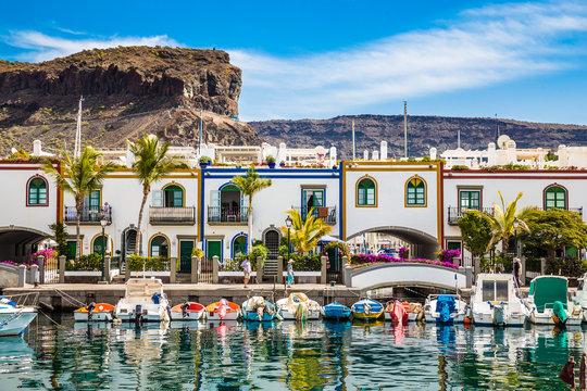 Port In Puerto de Mogan, Gran Canaria, Spain