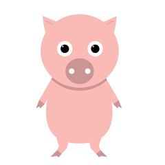 Cute pig vector icon