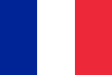 Vector of French flag. Wall mural