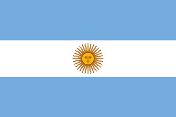 Nice vector of Argentinian flag. Fotomurales