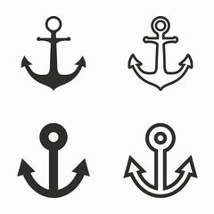 Anchor vector icons.