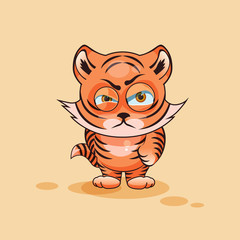 Tiger cub angry