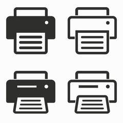 Printer  vector icons.