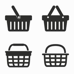 Shopping basket  vector icons.