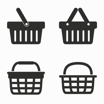 Shopping basket  vector icons.
