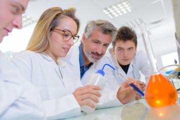 laboratory students