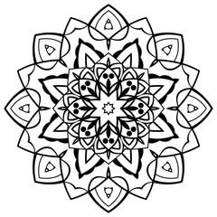 Vector simple mandala.