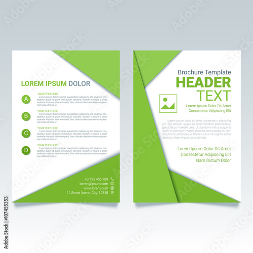 Creative Green Brochure Vector Template In A4 Size Modern Poster