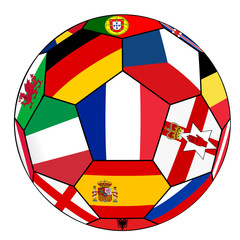 Ball with flag of France in the center