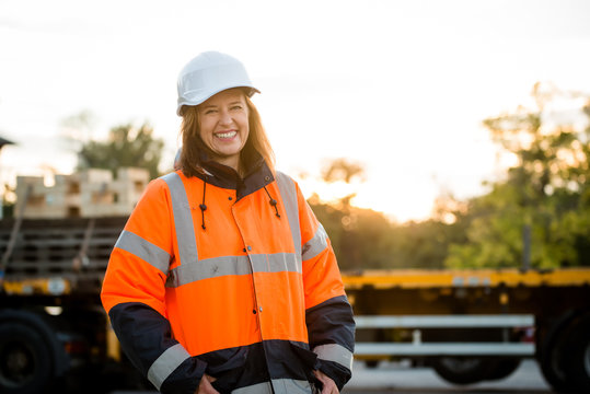 Mature woman - engineer portrait