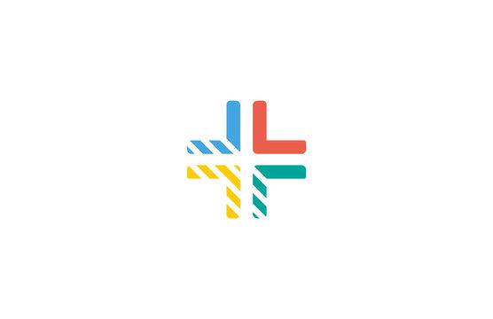 cross colorful arrow logo