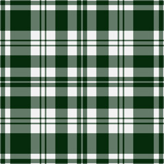 seamless tartan - green and white
