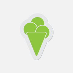 simple green icon - ice cream