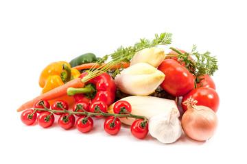 the vegetables together