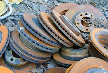 Useless,  old rusty brake discs