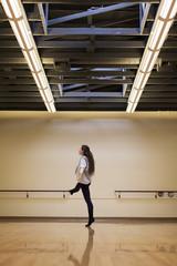 Dancer rehearsing in studio
