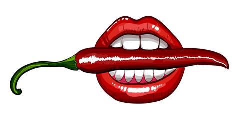 red chili pepper  lips