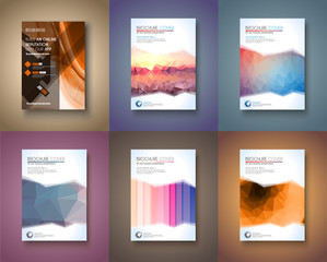 Set of 6 Brochure template, Flyer Design and Depliant Cover