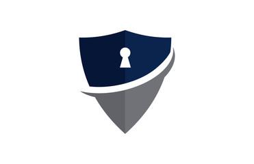 shield key logo vector