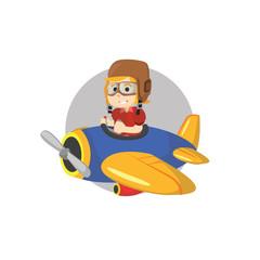Boy riding plane