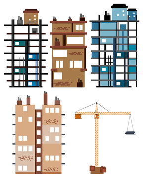 Buildings and construction tools