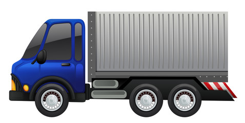 Lorry truck on white background