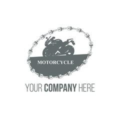 moto race logo icon Vector