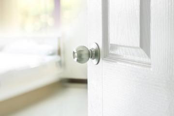 opened bedroom door