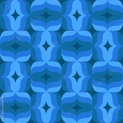 Ornament muster kachel 70er 70s ddr mosaik hintergrund for Tapete ornament blau