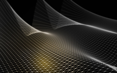 Abstract polygonal space low poly dark background