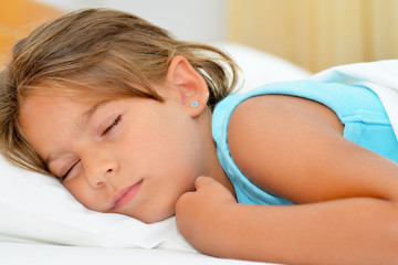 Sweet dreams, adorable toddler girl sleeping