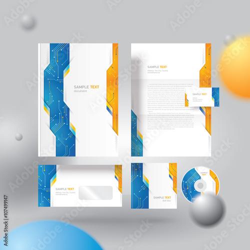 Corporate identity design template\