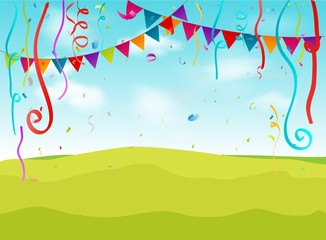 Birthday decoration background
