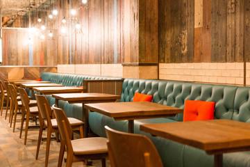 Empty restaurant in Liverpool