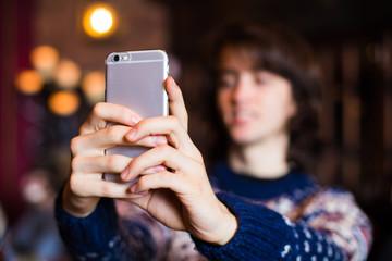 Teenager getting a selfie
