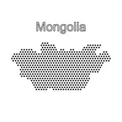 map of Mongolia,dot