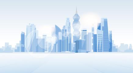 Panama City Skyscraper View Cityscape Background