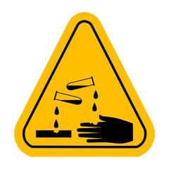 vector corrosive  sign
