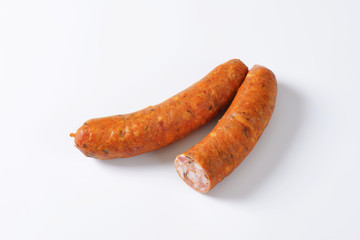 Smoked pork sausages