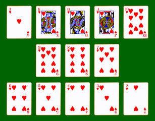 Hearts Suit Of Cards