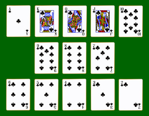 Clubs Suit Of Cards